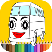 City Bus Coloring Book Kids icon