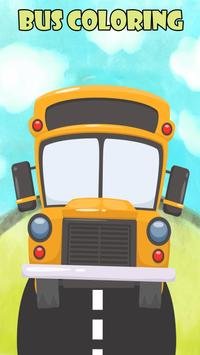 City Bus Coloring Book Kids poster