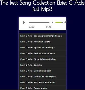 The Best Song Collection Ebiet G Ade full Mp3 apk screenshot
