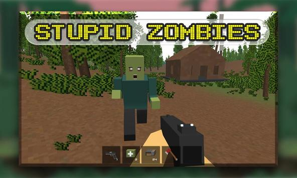 Blocky Zombies Shooting poster