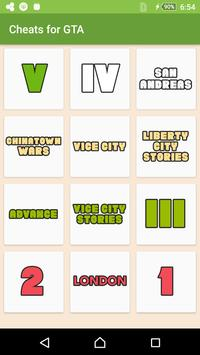 Cheats for GTA - Codes 2017 poster