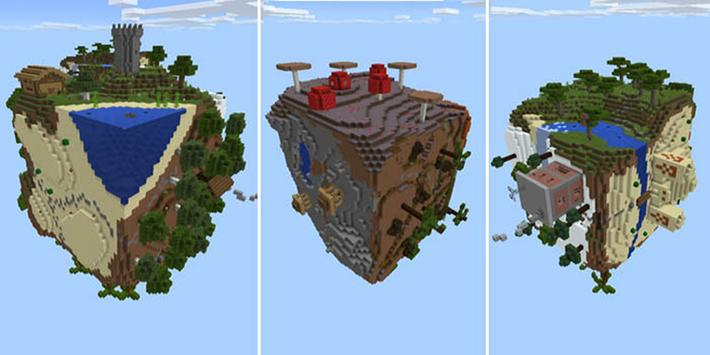 The Worlds map for Minecraft MCPE poster