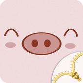 Cute Zipper Lock icon
