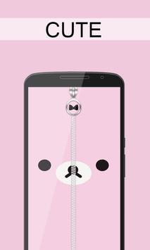 Cute Zipper Lock screenshot 1