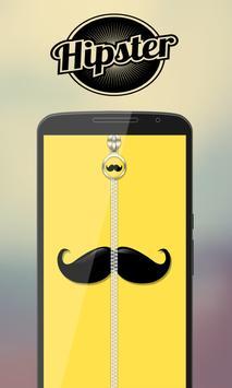 Hipster Zipper Lock screenshot 1