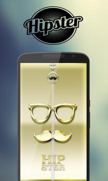 Hipster Zipper Lock screenshot 3
