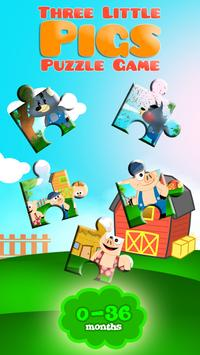 Three Little Pigs Puzzle Game poster