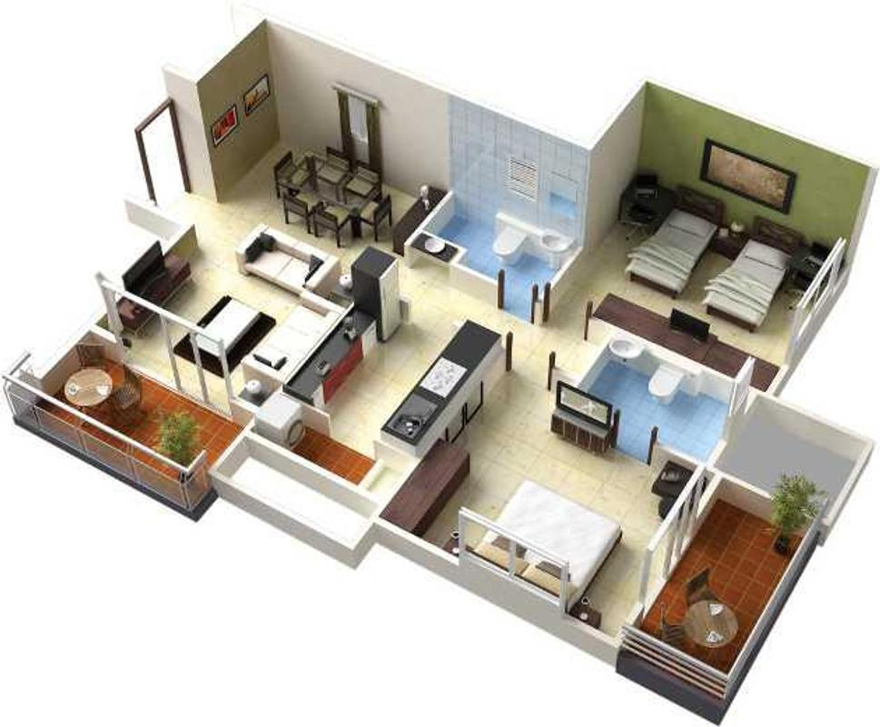 3d home floor plan designs apk screenshot - 3d Home Free