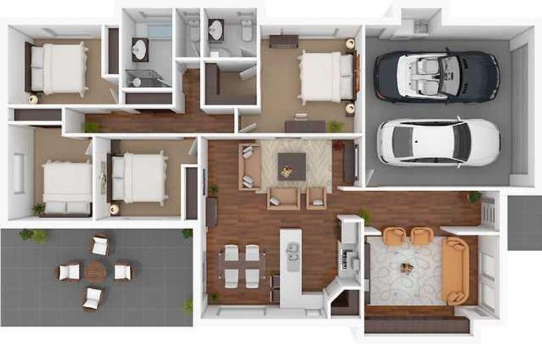 3d home floor plan designs poster - App For Floor Plan Design