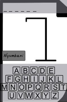 Kiswahili - Sheng Hangman apk screenshot