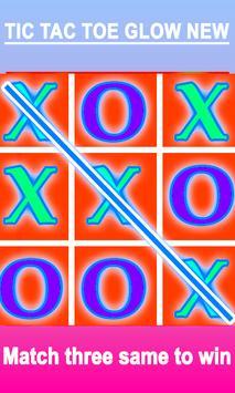TIC TAC TOE XO GLOW NEW GAME poster