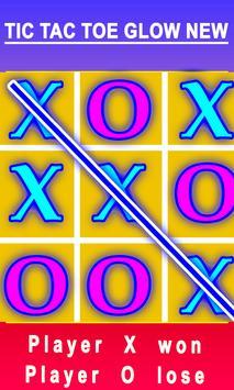 TIC TAC TOE XO GLOW NEW GAME screenshot 1