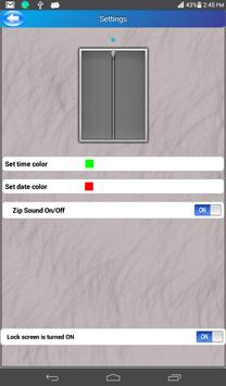 Zipper Typer Lock Screen apk screenshot