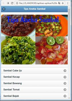 Tips Aneka Sambal apk screenshot