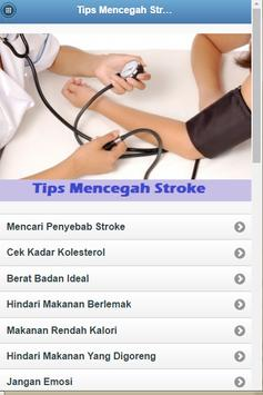Tips to Prevent Stroke poster