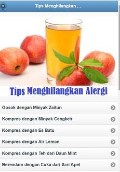 Eliminate Allergy Tips poster