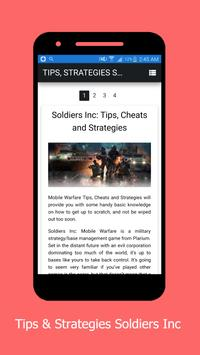 Tips & Strategies Soldiers Inc poster