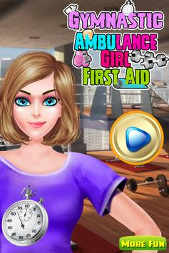 Gymnastic Girl First Aid poster