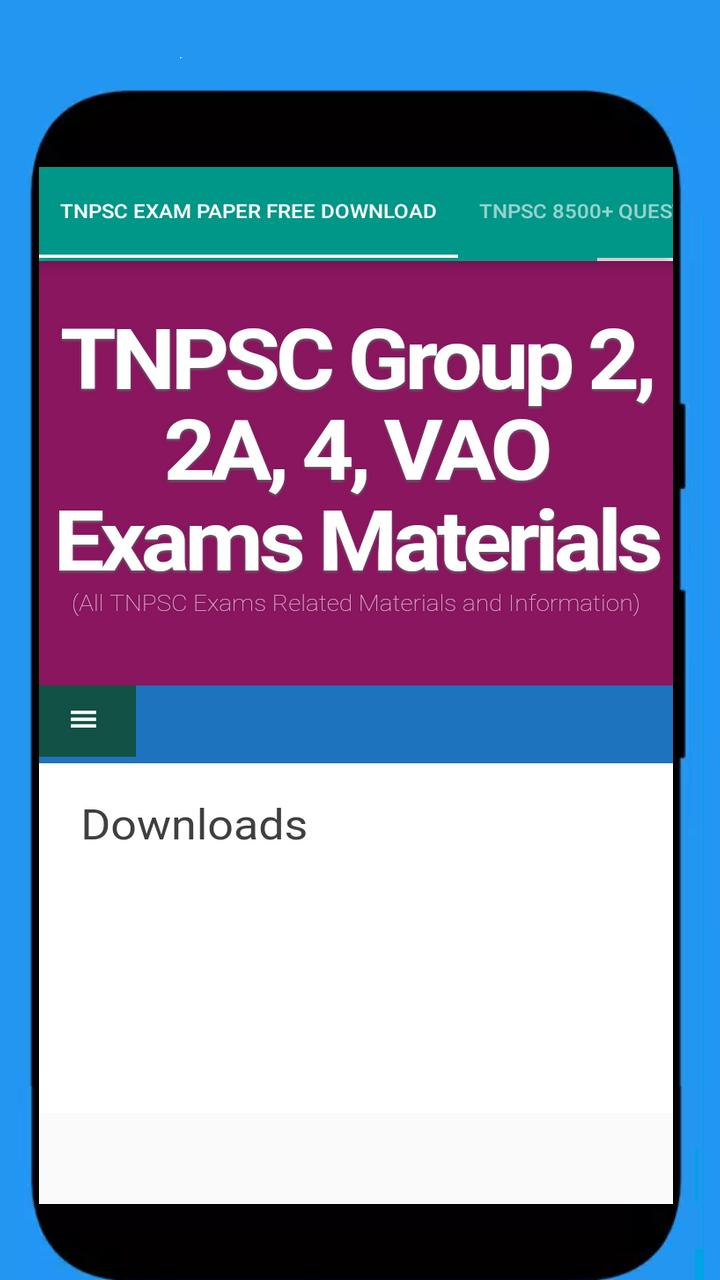 TNPSC Exam Papers Tamil English Download for Android - APK Download