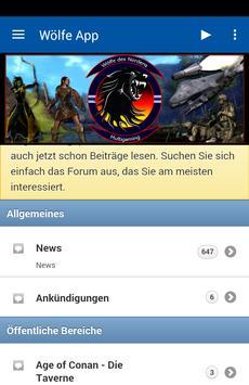 Wölfe App poster