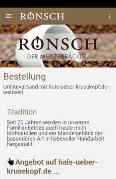 Rönsch - Der Meisterbäcker poster