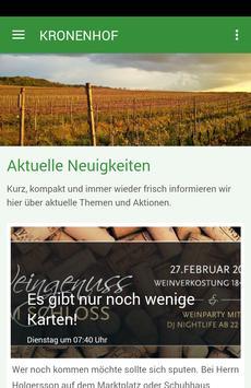 Weingut Kronenhof poster