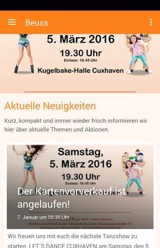 Tanzschule Beuss poster