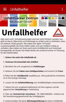 Neubauer Unfallhelfer poster