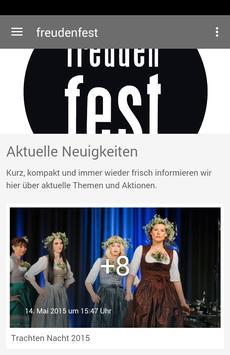 Freudenfest poster