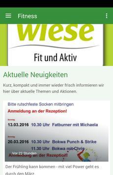 Fitness Treff Wiese poster