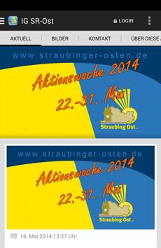 IG Straubing-Ost e.V. poster