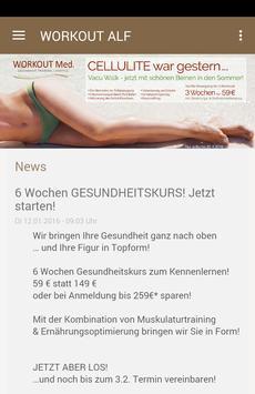 WORKOUT Med. Alfeld poster
