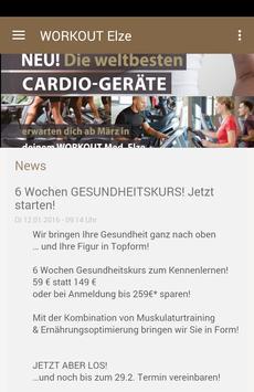 WORKOUT Med. in Elze poster