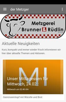 Metzgerei Brunner & Rüdlin poster