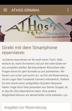 Restaurant Athos am Markt poster