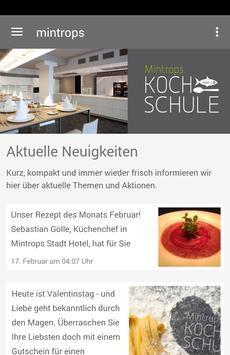 Mintrops Kochschule poster