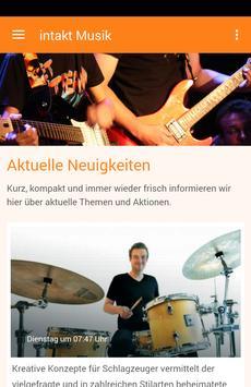 Intakt Musikinstitut poster