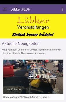 Luebker.Flohmarkt poster
