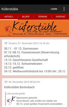 Küferstüble Bartenbach poster
