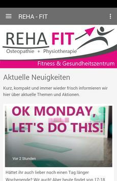 Reha Fit - Gesundheitszentrum poster