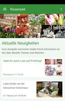 Rosenzeit-Floristik poster
