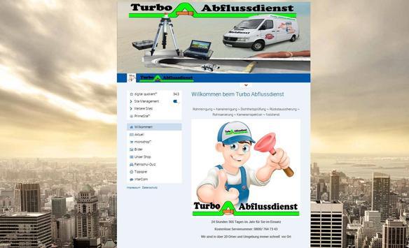 Turbo Abflussdienst poster
