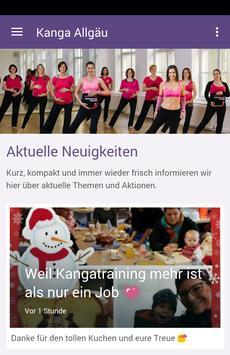 Kangatraining Allgäu poster