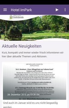 Im Park Friedrichsruhe poster