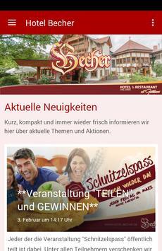 Hotel & Restaurant Becher poster