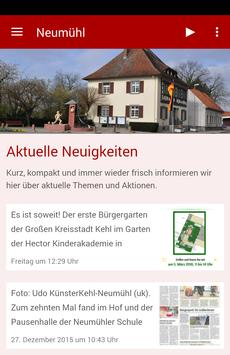 Vereinsgemeinschaft Neumühl poster