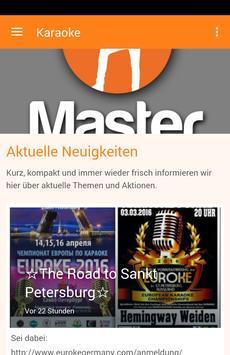 Master Karaoke poster
