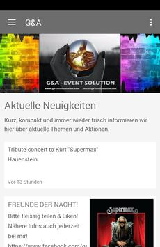 G&A -  EVENT SOLUTION poster