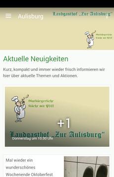 Landgasthof Zur Aulisburg poster