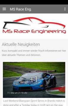 MS Race Engineering poster